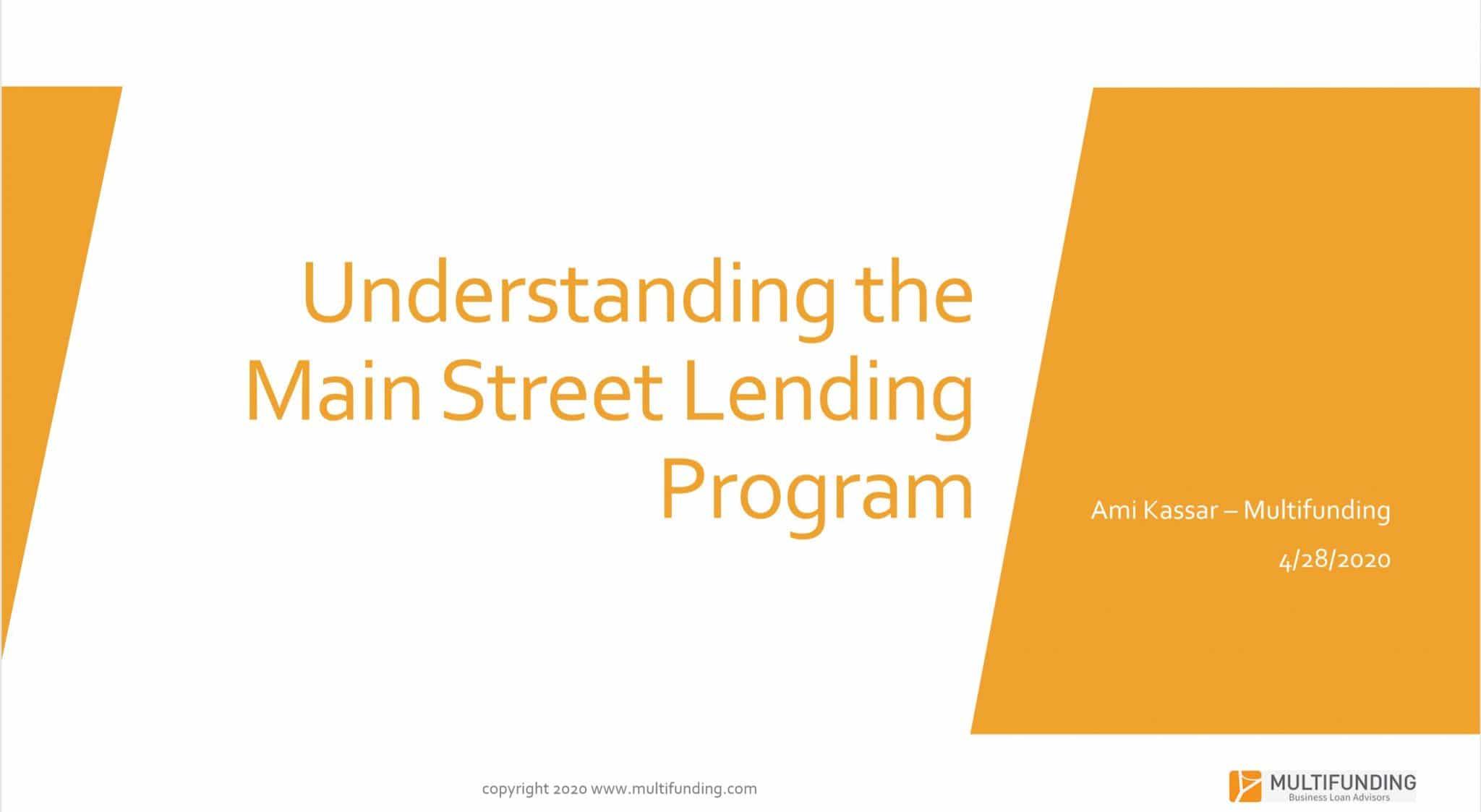 Main Street Lending