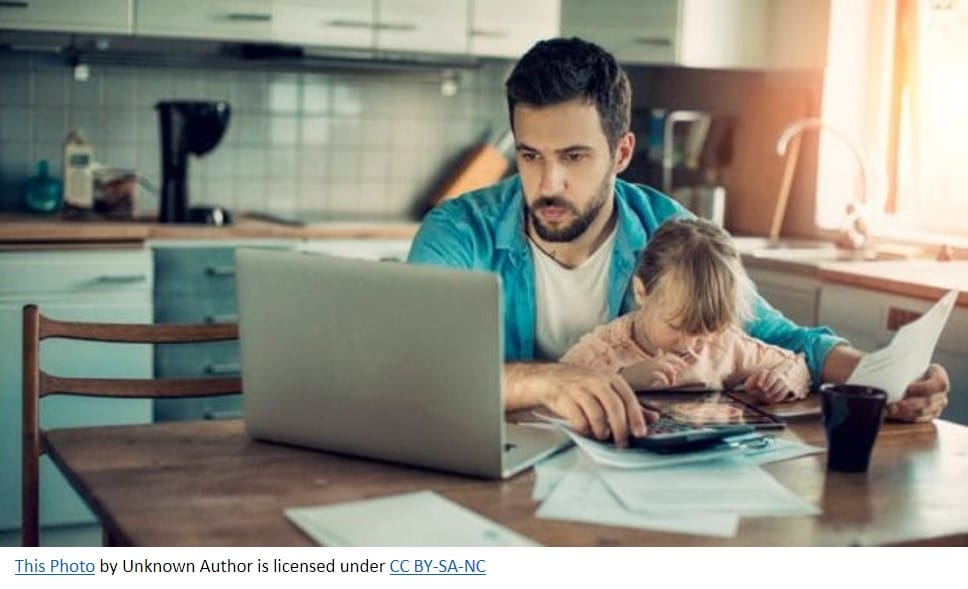 picture of father at computer